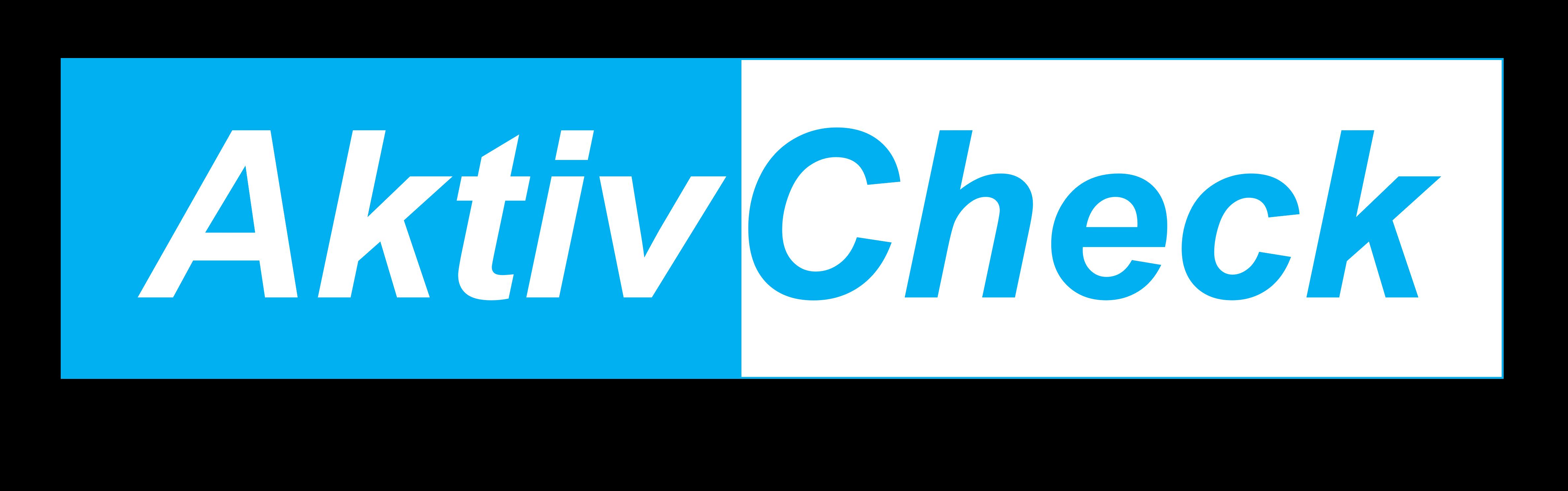 AktivCheck Logo Hellblau